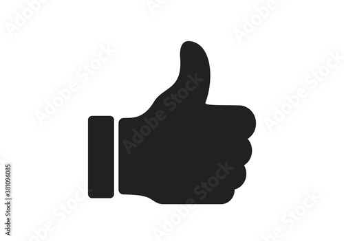 Obraz approval, excellent, very good icon. thumb up symbol. web design sign - fototapety do salonu