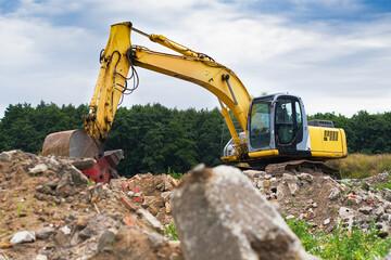 excavator clears