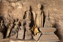 Ou Pak Caves Laos With Small A...