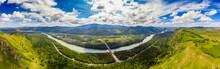 Panorama Blue Katun River Alta...