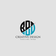 BBD Letter Logo Design Cross M...