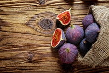 Detail Of Fresh Figs Spilled O...