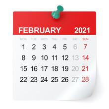 February 2021 - Calendar