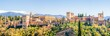 canvas print picture - Panorama Alhambra in Granada Andalusien Spanien