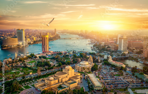Obraz View from the Cairo tower - fototapety do salonu