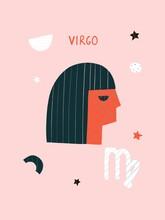 Virgo Zodiac Illustration Post...
