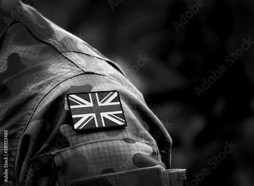 Fotografía Flag of United Kingdom on military uniform