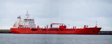 A Small Oil Tanker Unloading I...