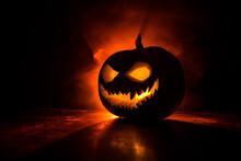 Halloween Pumpkin Smile And Sc...