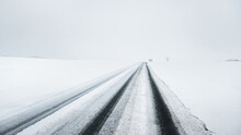 Snow-covered Highway (asphalt ...