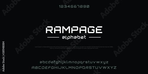 Cuadros en Lienzo Abstract modern urban alphabet fonts