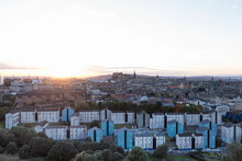 The Beautiful Skyline Of Edinb...