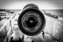 A Lens Of A Reflex Camera.