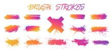 Set Colorful Gradient Brush St...
