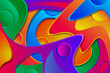 Abstract wave texture colorful background, Wallpaper illustration rainbow.