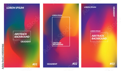 vector illustration of colorful gradient design Canvas Print