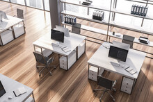 Modern Gray Open Space Office ...