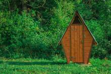Folk Old Toilet Wooden Cabin O...