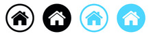 Web Home Icon For Apps And Websites, House Icon, Home Sign In Circle Or Main Page Icon