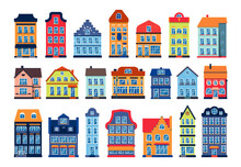 Cartoon Houses Colorful Archit...