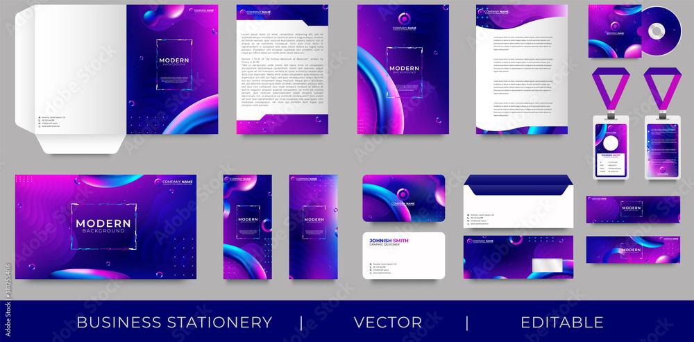 Fototapeta Corporate premium identity branding design