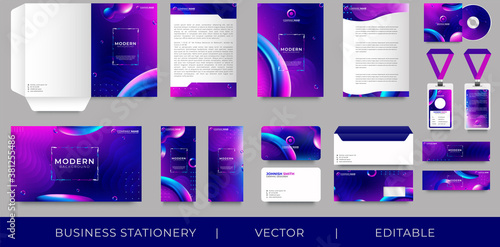 Fototapeta Corporate premium identity branding design obraz