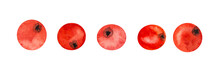 Clipart Set Of Five Red, Juicy...