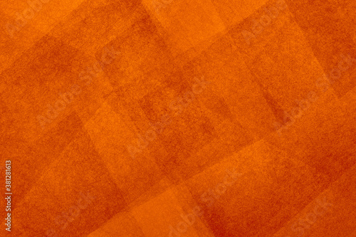 Fototapeta Orange background pattern in abstract geometric pattern with texture, textured triangle and polygon shapes layered in angled design in autumn or fall warm colors obraz