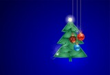 Fototapeta Do akwarium -  composition with a Christmas tree and baubles for Christmas