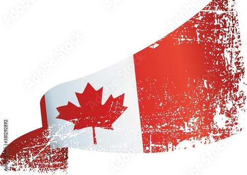 Flag of Canada. Bright, colorful vector illustration