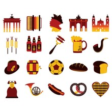 Set Of Germany Icons