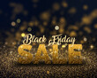 canvas print picture Black Friday background of gold glitter