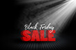 canvas print picture - Black Friday sale background with room interior and spotlight