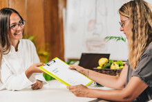 Preventive Medicine, Handing A Personalized Health Plan To A Client