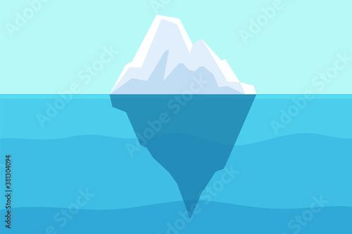 Cuadros en Lienzo Iceberg floating in ocean
