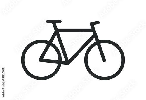 Obraz Bicycle icon silhouette. Bike sport shop logo sign. Biking trail symbol shape. Vector illustration image. Isolated on white background. - fototapety do salonu