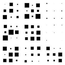 3x3 Cube, Square Geometric Arrangement. Square Illustration