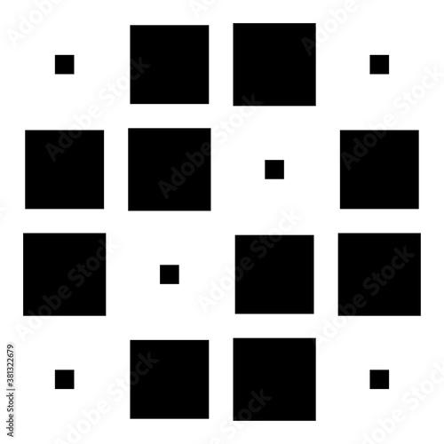 4x4 cube, square geometric arrangement. Square illustration Wall mural