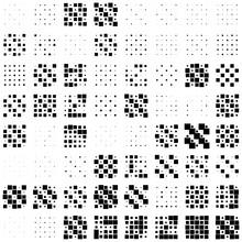 5x5 Cube, Square Geometric Arrangement. Square Illustration