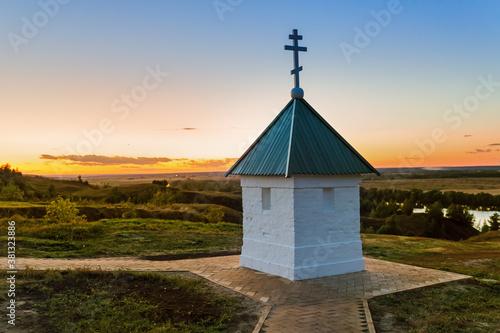 Fototapeta Chapel in the village of Konstantinovo (homeland of the Russian poet Sergei Yese