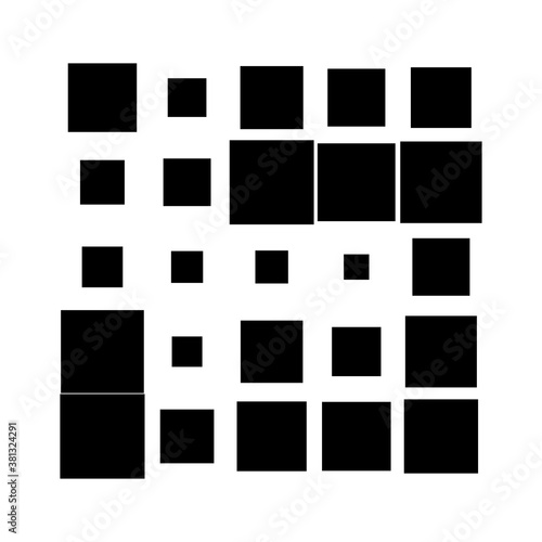 5x5 cube, square geometric arrangement. Square illustration Wall mural