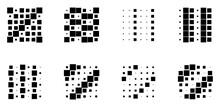 6x6 Cube, Square Geometric Arrangement. Square Illustration
