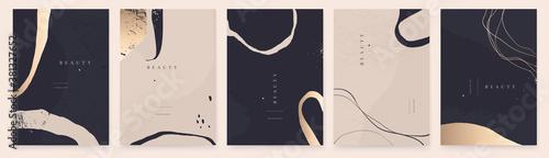 Fototapeta Elegant abstract trendy universal background templates. Minimalist aesthetic. obraz