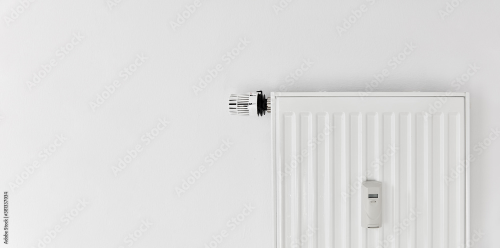 Fototapeta Heating with plate radiator and heat cost allocator