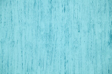 Natural Plywood Background Painted Blue Solid Color With Brush Strokes, New And Clean