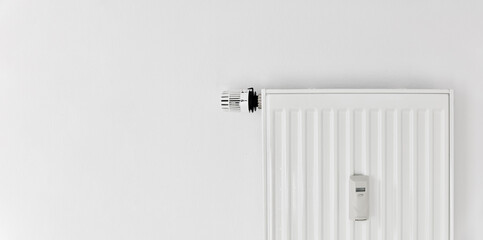 Heating with plate radiator and heat cost allocator