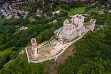 Csesznek, Hungary - Aerial Vie...