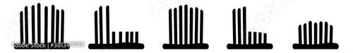Fototapeta Grass Icon Black | Lawn Illustration | Mow Symbol | Mowing Meadow Logo | Cut Sig
