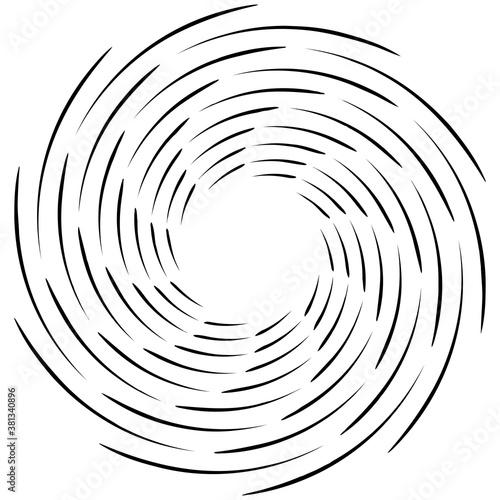 Spiral, twist radial swirl, twirl circular vector illustration Slika na platnu