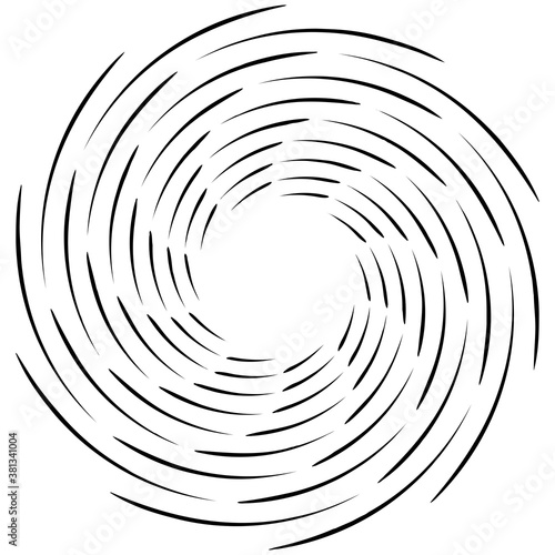 Spiral, twist radial swirl, twirl circular vector illustration Wallpaper Mural